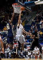 Harper Kamp of California shoots the ball during the game against George Washington at Haas Pavilion in Berkeley, California on November 13th, 2011.  California defeated George Washington, 81-54.
