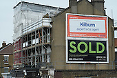 Ads for online estate agent Rightmove and Greene & Co, Kilburn, London.