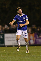 Robert Hunt of Oldham Athletic celebrates his goal in the second half during Hampton & Richmond Borough vs Oldham Athletic, Emirates FA Cup Football at the Beveree Stadium on 12th November 2018