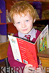 A brave Christian Leahy Short was the sole starter in Junior infants at Mountcollins N.S on Tuesday.