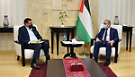 Palestinian Prime Minister Mohammad Ishtayeh, meets with the Board of Directors of the Jerusalem Electricity Company and its General Manager Hisham Al-Omari, in the West Bank city of Ramallah, on July 26, 2020. Photo by Prime Minister Office