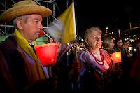 Faithful at the Circus Maximus for a prayer vigil to celebrate the Pope John Paul II beatification. Migliaia di fedeli si sono radunati al Circo Massimo per assistere alla veglia in onore di Giovanni Paolo II.