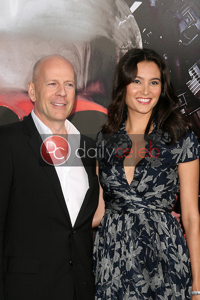 Bruce Willis and Wife Emma<br />