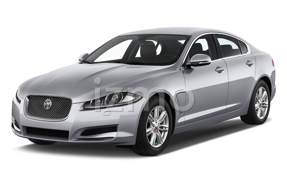 2015 Jaguar XF 2.2D 163 auto 4 Door Sedan 2WD Angular Front stock photos of front three quarter view