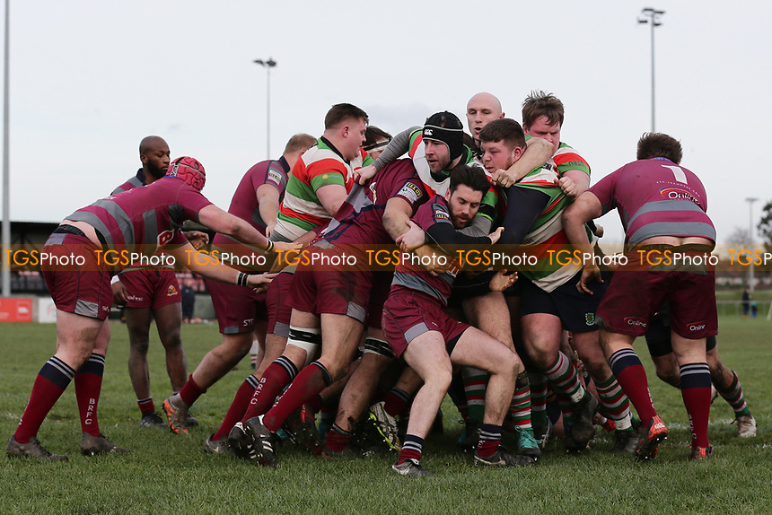 Ilford score their second try during Barking RFC vs Ilford Wanderers RFC, London 3 Essex Division Rugby Union at Gale Street on 9th February 2019