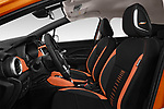Front seat view of 2017 Nissan Micra Tekna 5 Door Hatchback Front Seat  car photos