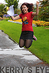 JUMPING FOR JOY: Tralee Presentation.Secondary School.student Karen OMahony from.Ardfert, who is one of 11 students.in Ireland who achieved.eight A1s in the Leaving Cert.