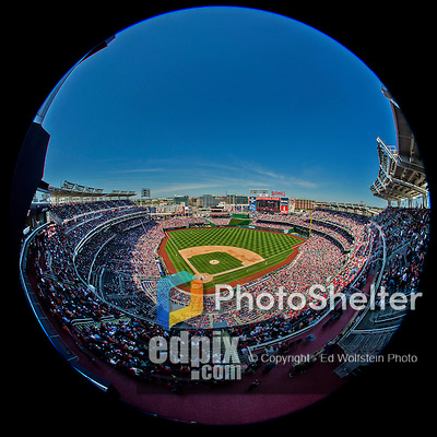27 April 2014: A crowd of 34,873 attend a Washington Nationals ballgame against the San Diego Padres at Nationals Park in Washington, DC. The Padres defeated the Nationals 4-2 to to split their 4-game series. Mandatory Credit: Ed Wolfstein Photo *** RAW (NEF) Image File Available ***