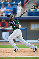 Daytona Tortugas right fielder Aristides Aquino (6) hits a grand slam home run during a game against the Brevard County Manatees on August 14, 2016 at Space Coast Stadium in Viera, Florida.  Daytona defeated Brevard County 9-3.  (Mike Janes/Four Seam Images)