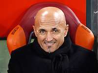 Calcio, Serie A: Roma vs Milan. Roma, stadio Olimpico, 12 dicembre 2016.<br /> Roma&rsquo;s coach Luciano Spalletti waits for the start of the Italian Serie A football match between Roma and AC Milan at Rome's Olympic stadium, 12 December 2016.<br /> UPDATE IMAGES PRESS/Isabella Bonotto