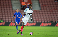 Tammy Abraham (Bristol City (on loan from Chelsea) of England in action during the Under 21 International Friendly match between England and Italy at St Mary's Stadium, Southampton, England on 10 November 2016. Photo by Andy Rowland.