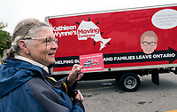 "The Canadian Taxpayers Federation (CTF) is on a cross-Ontario tour about the Ontario affordability crisis. A satirical moving company in the called the ""Kathleen Wynne Moving Company – Helping Businesses and Families Leave Ontario"" is visiting communities to highlight business losses."