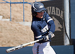 March 7, 2012:   Nevada Wolf Packs Megan Fincher bats against the Sacramento State Hornets during their NCAA softball game played at Christina M. Hixson Softball Park on Wednesday in Reno, Nevada.