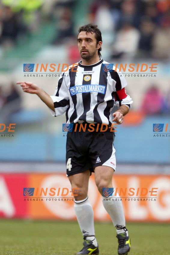 Roma 25/1/2004 <br /> Roma Udinese 1-1 <br /> Valerio Bertotto (Udinese) <br /> Foto Andrea Staccioli Insidefoto