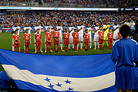 Harrison, NJ - Friday July 07, 2017: Honduras during a 2017 CONCACAF Gold Cup Group A match between the men's national teams of Honduras (HON) vs Costa Rica (CRC) at Red Bull Arena.