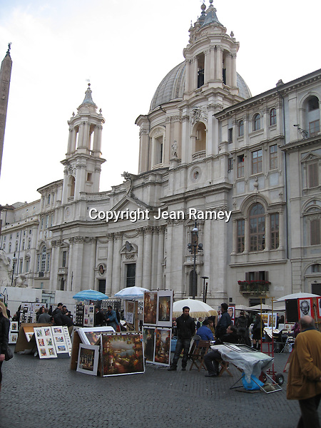 Artists on Piazza Navonna