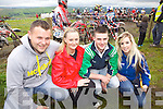 Local supportors of the Motorcross Grasstrack Championship was Anthony and Stephane Murphy, Seamus Murphy and Amanda Doody, pictured in Templeglantine last Sunday afternoon.