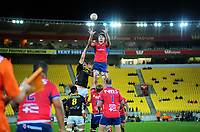 Lineout action from the Mitre 10 Cup rugby match between Wellington Lions and Tasman Makos at Westpac Stadium in Wellington, New Zealand on Sunday, 19 August 2018. Photo: Dave Lintott / lintottphoto.co.nz
