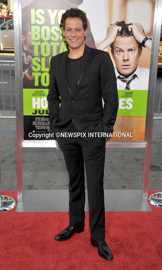"IOAN GRUFFUDD.attends the Los Angeles Premiere of ""Horrible Bosses""  Grauman's Chinese Theatre, Hollywood, Los Angeles, California_30/06/2011.Mandatory Photo Credit: ©Crosby/Newspix International. .**ALL FEES PAYABLE TO: ""NEWSPIX INTERNATIONAL""**..PHOTO CREDIT MANDATORY!!: NEWSPIX INTERNATIONAL(Failure to credit will incur a surcharge of 100% of reproduction fees).IMMEDIATE CONFIRMATION OF USAGE REQUIRED:.Newspix International, 31 Chinnery Hill, Bishop's Stortford, ENGLAND CM23 3PS.Tel:+441279 324672  ; Fax: +441279656877.Mobile:  0777568 1153.e-mail: info@newspixinternational.co.uk"