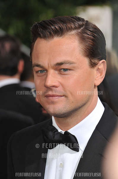Leonardo DiCaprio at the 70th Golden Globe Awards at the Beverly Hilton Hotel..January 13, 2013  Beverly Hills, CA.Picture: Paul Smith / Featureflash