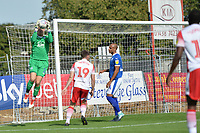 Scott Davies of Tranmere Rovers catches a cross during Stevenage vs Tranmere Rovers, Sky Bet EFL League 2 Football at the Lamex Stadium on 4th August 2018
