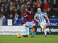 West Ham United's Pedro Obiang and Huddersfield Town's Aaron Mooy<br /> <br /> Photographer Rob Newell/CameraSport<br /> <br /> The Premier League - Huddersfield Town v West Ham United - Saturday 10th November 2018 - John Smith's Stadium - Huddersfield<br /> <br /> World Copyright © 2018 CameraSport. All rights reserved. 43 Linden Ave. Countesthorpe. Leicester. England. LE8 5PG - Tel: +44 (0) 116 277 4147 - admin@camerasport.com - www.camerasport.com