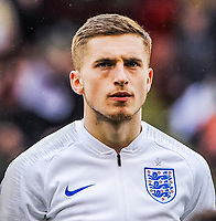 Everton's defender Jonjoe Kenny (2) for England U21's during the International Euro U21 Qualification match between England U21 and Ukraine U21 at Bramall Lane, Sheffield, England on 27 March 2018. Photo by Stephen Buckley / PRiME Media Images.