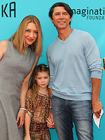 UNIVERSAL CITY, CA, USA - SEPTEMBER 21: Yvonne Boismier Phillips, Lou Diamond Phillips at the Los Angeles Premiere Of Focus Features' 'The Boxtrolls' held at Universal CityWalk on September 21, 2014 in Universal City, California, United States. (Photo by Celebrity Monitor)