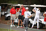 HOWEY IN THE HILLS, FL - MAY 19: Wittenberg University fans celebrate a national championship during the Division III Men's Golf Championship held at the Mission Inn Resort and Club on May 19, 2017 in Howey In The Hills, Florida. (Photo by Cy Cyr/NCAA Photos via Getty Images)