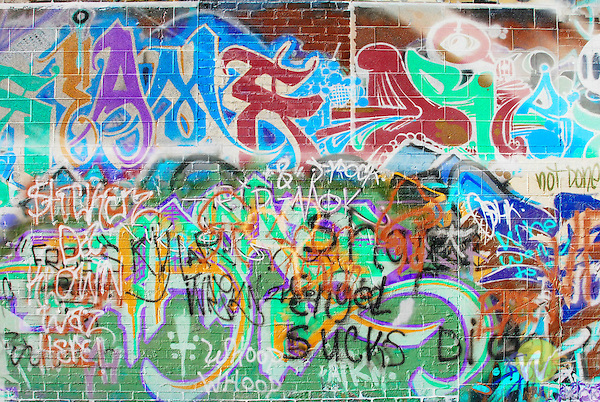 Rapid City, South Dakota in graffiti alley..