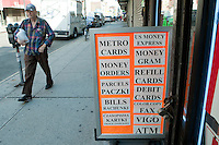 """A man walks by a Polish store in the Greenpoint neighborhood of New York City borough of Brooklyn, NY, Monday August 1, 2011. Greenpoint is sometimes referred to as """"Little Poland"""" due to its large population of working-class Polish immigrants, reportedly the second largest concentration in the United States after Chicago."""