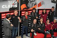 SCHAATSEN: HEERENVEEN: 21-10-2016, Perspresentatie Team Clafis, directeur Bert Jonker en trainer coach Jillert Anema, ©foto Martin de Jong