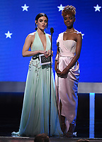SANTA MONICA, CA - JANUARY 12: Lucy Hale and Ashleigh Murray onstage at the 25th Annual Critics' Choice Awards at the Barker Hangar on January 12, 2020 in Santa Monica, California. (Photo by Frank Micelotta/PictureGroup)