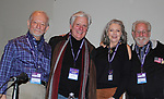 Original Cast plus reunion of Follies - Jonathan Tunick, Kurt Peterson, Denise Pence, Steve Boockvor  - Broadway Con 2018 at the Javits Center, New York City, New York on January 27, 2018. (Photo by Sue Coflin/Max Photo)