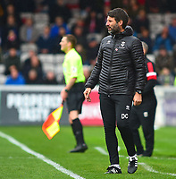 Lincoln City manager Danny Cowley shouts instructions to his team from the technical area<br /> <br /> Photographer Andrew Vaughan/CameraSport<br /> <br /> The EFL Sky Bet League Two - Lincoln City v Crewe Alexandra - Saturday 6th October 2018 - Sincil Bank - Lincoln<br /> <br /> World Copyright &copy; 2018 CameraSport. All rights reserved. 43 Linden Ave. Countesthorpe. Leicester. England. LE8 5PG - Tel: +44 (0) 116 277 4147 - admin@camerasport.com - www.camerasport.com