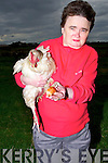 CHICKEN: On Thursday around 4pm one of the chickens of the Brownes Famnily from Bouleensher,Ballyheigue showing off the the egg to friends were l-r: Betty Browne, Tony Browne Geaney, Gerard Browne and Sean Geaney....