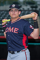 Austin Riley (13) of the Rome Braves poses for a photo prior to the game against the Hickory Crawdads at L.P. Frans Stadium on May 12, 2016 in Hickory, North Carolina.  The Braves defeated the Crawdads 3-0.  (Brian Westerholt/Four Seam Images)