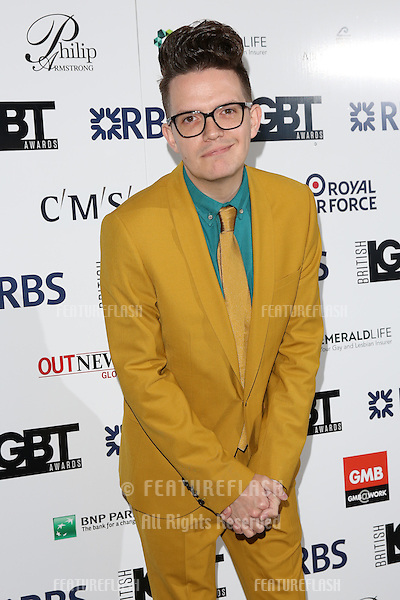 David Morgan at The British LGBT Awards at the Grand Connaught Rooms, London.<br /> May 13, 2016  London, UK<br /> Picture: James Smith / Featureflash