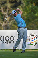 Chez Reavie (USA) watches his tee shot on 18 during round 1 of the World Golf Championships, Mexico, Club De Golf Chapultepec, Mexico City, Mexico. 3/1/2018.<br /> Picture: Golffile | Ken Murray<br /> <br /> <br /> All photo usage must carry mandatory copyright credit (&copy; Golffile | Ken Murray)