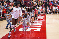 STANFORD, CA - August 28, 2016: Inky Ajanaku at Maples Pavilion. The Stanford Cardinal defeated the University of Minnesota 3-1.