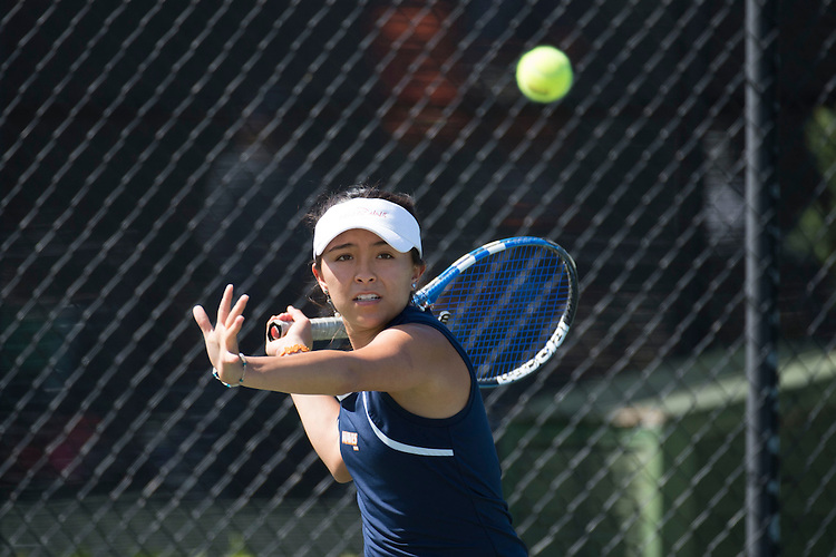 April 26, 2013; San Diego, CA, USA; Pepperdine Waves player Ale Granillo during the WCC Tennis Championships at Barnes Tennis Center.