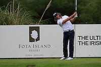Romain Wattel (FRA) on the 11th tee during Round 2 of the Irish Open at Fota Island on Friday 20th June 2014.<br /> Picture:  Thos Caffrey / www.golffile.ie