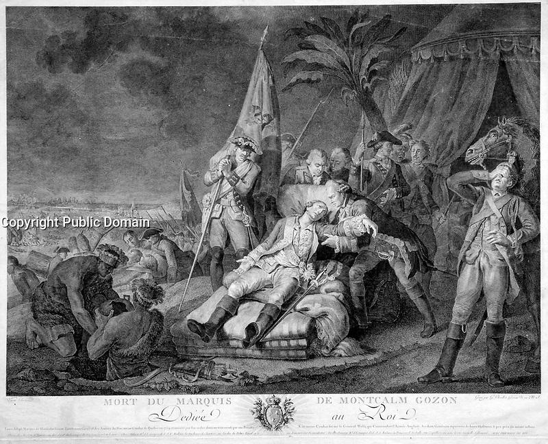 Mort du Marquis de Montcalm Gozon, le 14 septembre 1759