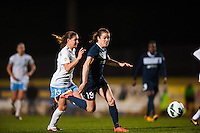 Sky Blue FC forward Kelley O'Hara (19). Sky Blue FC and the Chicago Red Stars played to a 1-1 tie during a National Women's Soccer League (NWSL) match at Yurcak Field in Piscataway, NJ, on May 8, 2013.