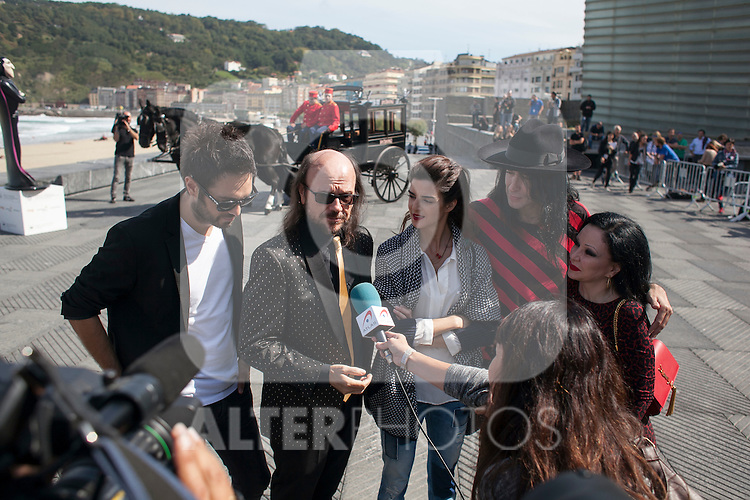 Dani Matinez, Clara Lago, Mario Vaquerizo, Alaska and Santiago Segura pose during `Hotel Transilvania´ film presentation at 63rd Donostia Zinemaldia (San Sebastian International Film Festival) in San Sebastian, Spain. September 25, 2015. (ALTERPHOTOS/Victor Blanco)