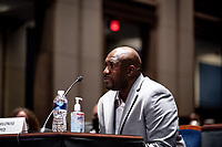 Philonise Floyd, George Floyd's brother, testifies during a United States House Judiciary Committee at a hearing on police accountability on Capitol Hill in Washington, DC on June 10, 2020. <br /> Credit: Erin Schaff / Pool via CNP/AdMedia