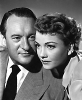 All About Eve (1950)<br /> Anne Baxter &amp; George Sanders<br /> *Filmstill - Editorial Use Only*<br /> CAP/KFS<br /> Image supplied by Capital Pictures