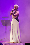 Spanish singer Pasión Vega performs during a concert at Royal Palace in Madrid, Spain. March 02, 2016. (ALTERPHOTOS/Victor Blanco)