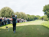 Francesco Molinari (ITA) in action on the 3rd hole during the first round of the 76 Open D'Italia, Olgiata Golf Club, Rome, Rome, Italy. 10/10/19.<br /> Picture Stefano Di Maria / Golffile.ie<br /> <br /> All photo usage must carry mandatory copyright credit (© Golffile | Stefano Di Maria)