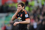Daley Blind of Manchester United<br /> - Barclays Premier League - Stoke City vs Manchester United - Britannia Stadium - Stoke on Trent - England - 26th December 2015 - Pic Robin Parker/Sportimage